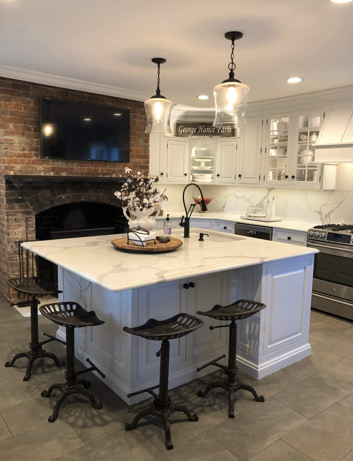 Brick Fireplaces Mounting Your Television Shea Communications Inc